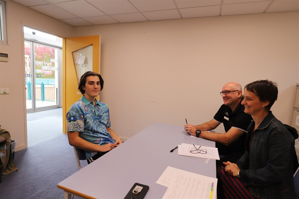 VCAL Students Practise Interview Skills
