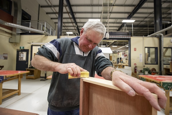 Woodworking short course sparks joy for students!