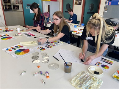Hands-on practical experiences make colour theory come to life on campus!