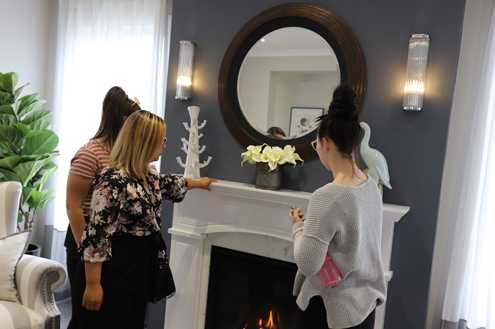 Interior Decoration students tour Metricon Homes display home